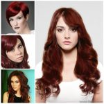 2018 Koyu kızıl saç rengi ve modelleri