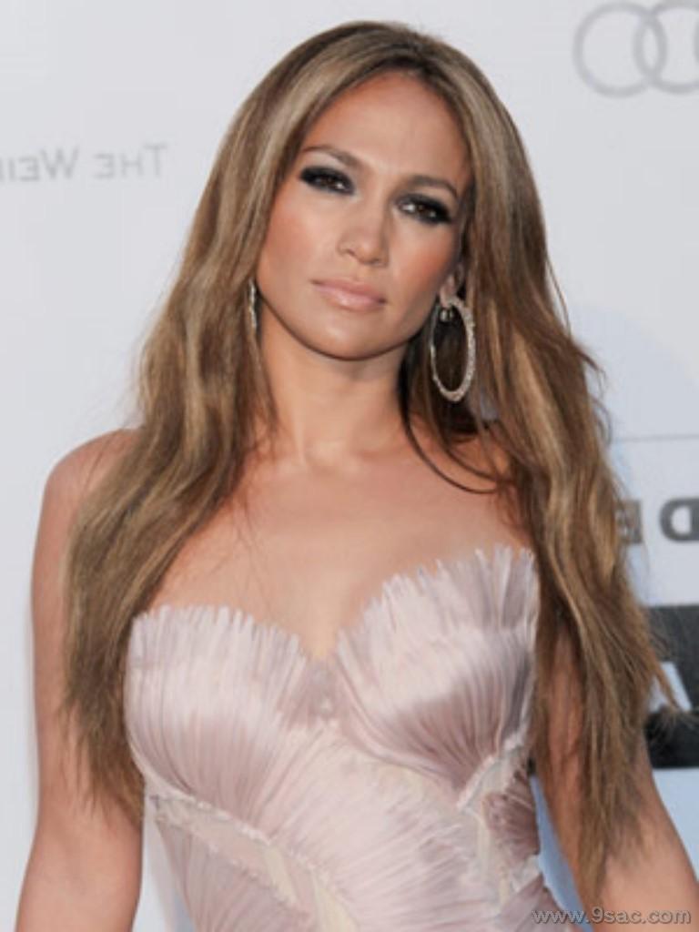 Jennifer Lopez Karamel Kahve Tonlari Sac Rengi Sac