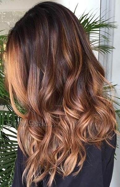 Bakir Karamel Sac Rengi Balyajlar Saç