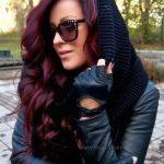 Bordo Saç Rengi Modası
