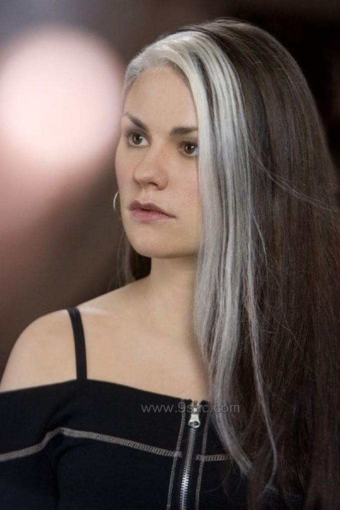 Gri Saç Rengi Işıltıları Saç