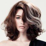 Kahverengi Saç Uzerine Gumus Işıltılari