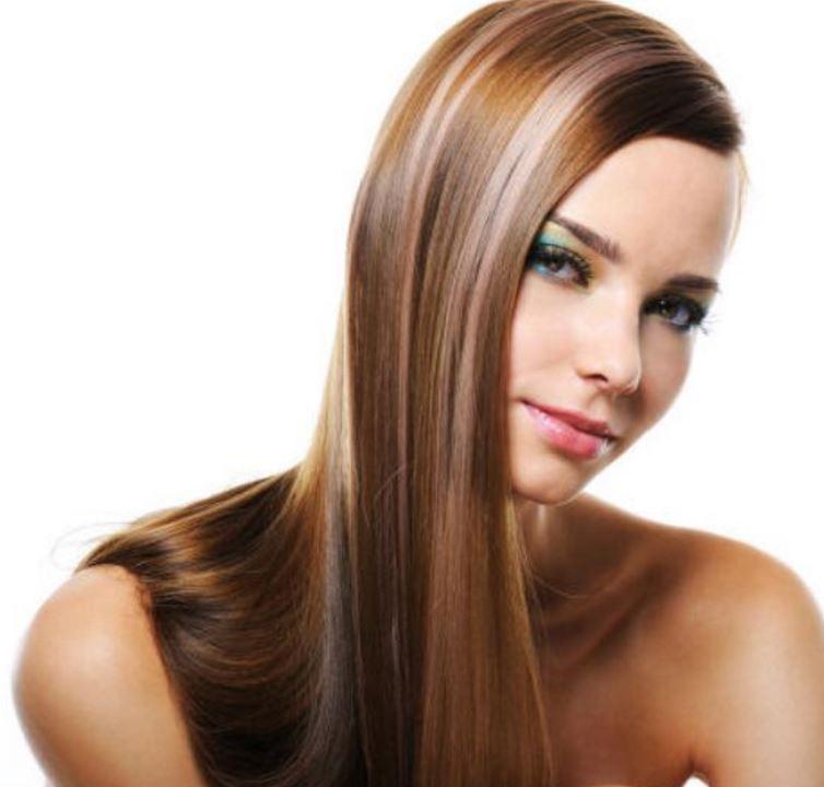 Karamel Saç Rengi Sari Işıltı Vurguları