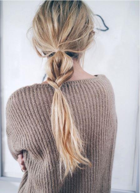 2016 Örgülü At Kuyruğu Saç Modeli