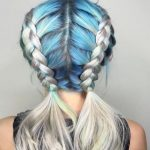 Mavi gri ombre saç modeli 2016