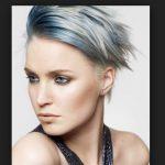 Kisa saça metalik gri saç rengi