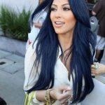 Mavi siyah saç rengi modası ünlüler 2018