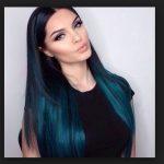 Metalik mavi siyah saç rengi trendi