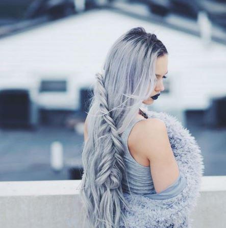 Örgülü Gri Saç Modeli