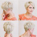 Sarı katlı pixie saç kesimi