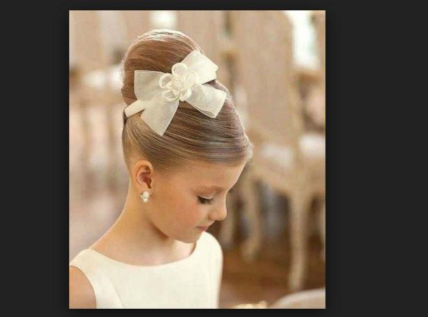 Asil küçük kız çocuk düğün saç modelleri