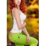 Çekici bakır kızıl saç rengi modelleri