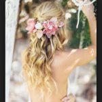 Çiçekli 2016 Gelin Saç Modası
