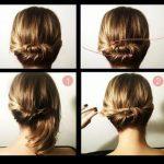 Dusuk orgu topuz saç modelleri