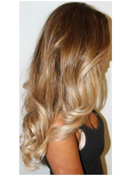 Favori sarı ombre saç rengi