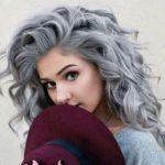 Gri Dalgalı Saç Modelleri