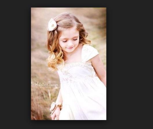 Harika küçük kız çocuk düğün saç modelleri