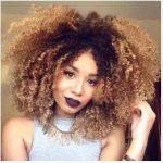 Harika Ombre Siyah Kıvırcık Saç Modeli