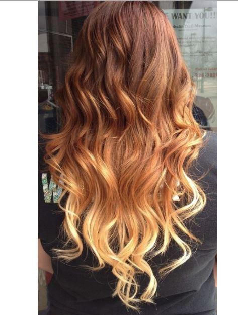 Kahverengi Sarı Ombre Saç Rengi Saç