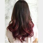 Kahverengi ve Kızıl Ombre Saç Rengi