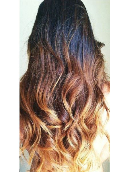 Katlı dağınık ombre saç