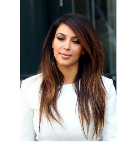 Kim kardashian ombre saç rengi