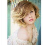 Kısa bob saç kesimi sarı ombre