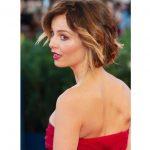 Kısa katlı saç kesimi ombre uygulanışı