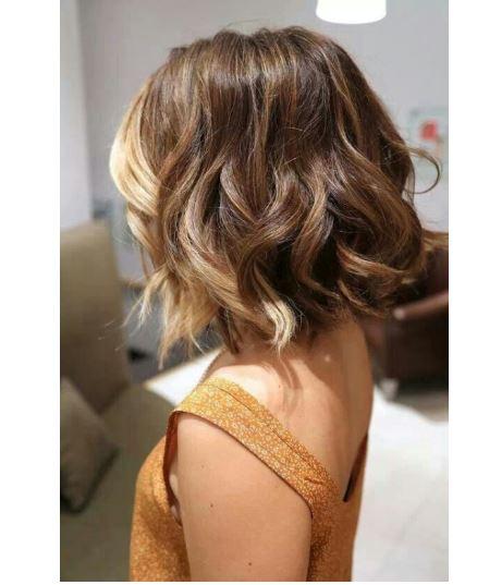 Kısa saç seven kızlara ombre