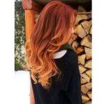 Kızıl ombre uzun saç
