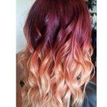 Kızıl sarı ombre saç denemesi