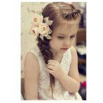 Küçük kız çocuk düğün saç modeli