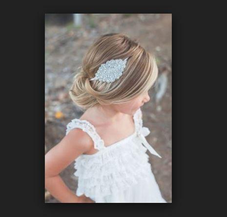 Küçük kız çocuk düğün saç modelleri