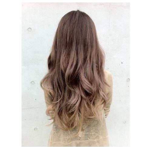 Küllü kumral ombre saç rengi denemesi