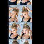 Pratik topuz saç modeli