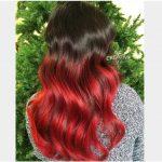Siyah Kırmızı Ombre Saç Rengi