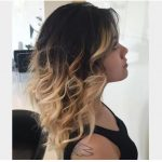 Siyah Saç Uçlarına Sarı Dalgalar