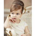 Topuz küçük kız çocuk düğün saç modelleri