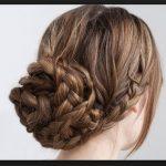 Uzun Saç Örgü Topuz Modeli