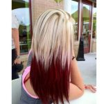 Yaz stili ombre saç rengi