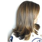 Doğal yer fıstığı balyaj saç rengi
