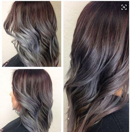 Hafif Gri Ombre Saç Renkleri 2017 Saç