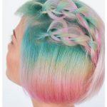 Pastel renkler kısa bob düğüm örgüler