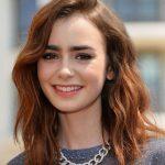 Lily colling 2017 kumral saç rengi ve omuz hizasi saç modeli