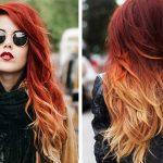 2017 Moda Olan Kızıl Sarı Saç Rengi Modelleri