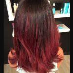 Kızıl Kahverengi Ombre Saç Rengi