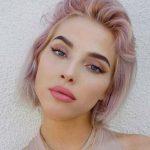 Gül Rengi Kısa Saç Modelleri