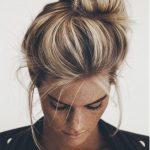 Dağınık saçlarda moda olan saç modeli