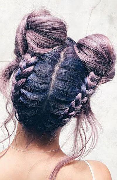 ikili topuz saç modelleri