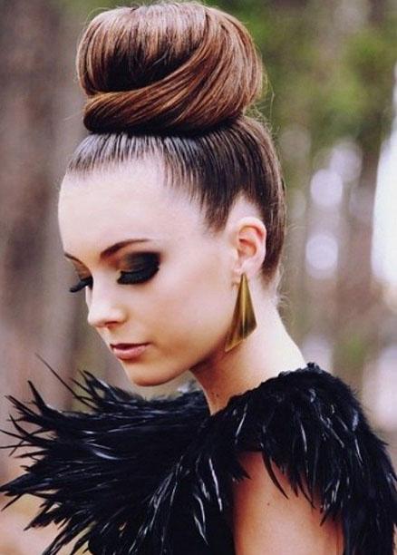 en güzel topuz saç modelleri